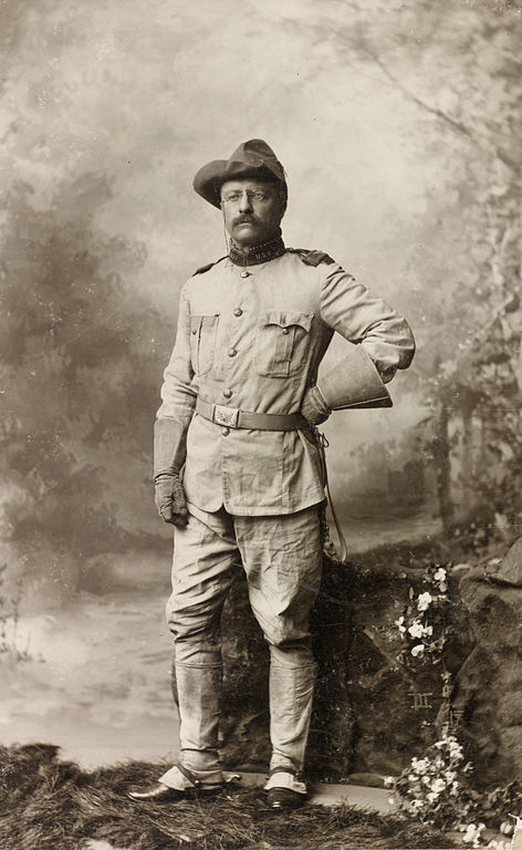 Colonel Theodore Roosevelt in his Rough Riders uniform on October 26, 1898