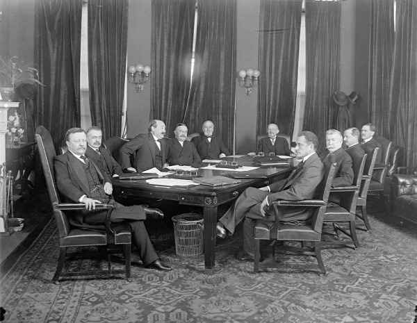Theodore Roosevelt's Cabinet Room, 1903