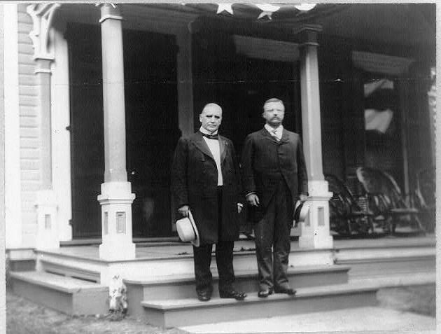 Theodore Roosevelt and William McKinley