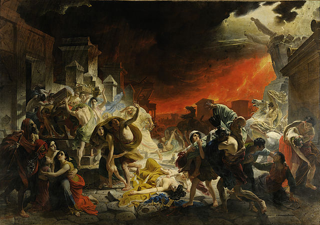 The Last Day of Pompeii. Painting by Karl Brullov, 1830–1833