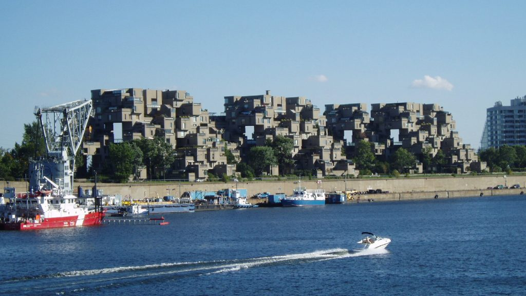 Habitat 67, a housing complex built for Expo 67