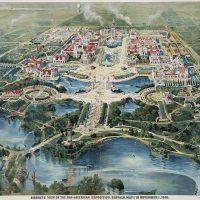 Aerial view print of Pan-American Exposition, 1901