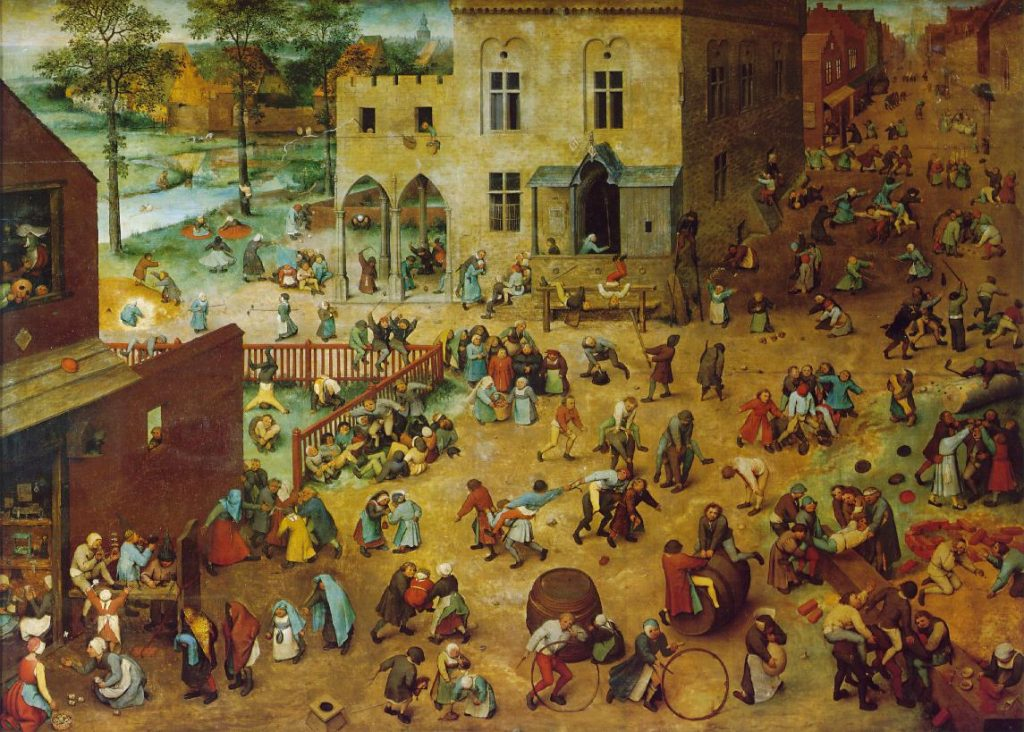 "Pieter Bruegel's painting ""Children's Games"""