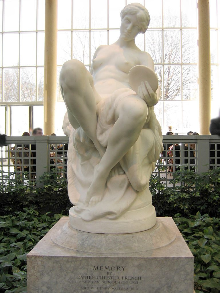 Memory,  this carving in marble by the Piccirilli Brothers and Daniel Chester French. Metropolitan Museum of Art, New York City.