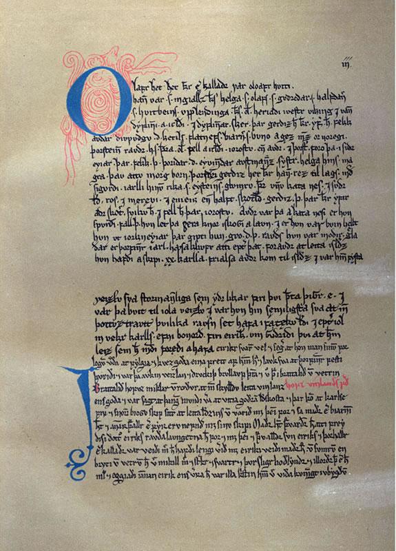A sheet of Eiríks saga rauða.