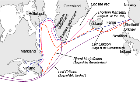Erik The Red - Route